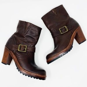 Frye | Lucy Engineer Boots 7 Brown Leather Boho